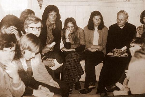 Spotkanie Bp. Karola Wojtyły z młodzieżą oazową
