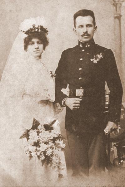 Fotografia ślubna Emilii i Karola Wojtyłów