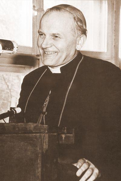 Bp Karol Wojtyła - wykładowca na KUL