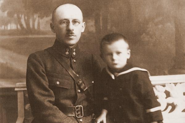 Karol Wojtyła z ojcem Karolem seniorem