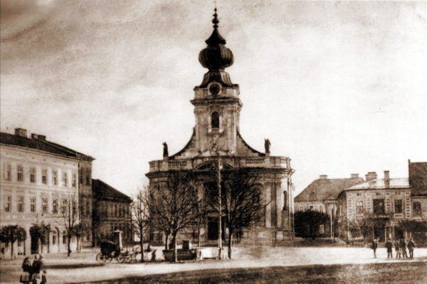 Kościół Ofiarowania NMP w Wadowicach ok. 1935 r.