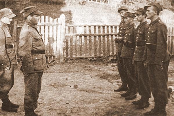 Karol Wojtyła na ćwiczeniach wojskowych, rok 1939